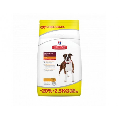 HILL´S Science Plan Canine Light Adult 12kg + 2.5kg