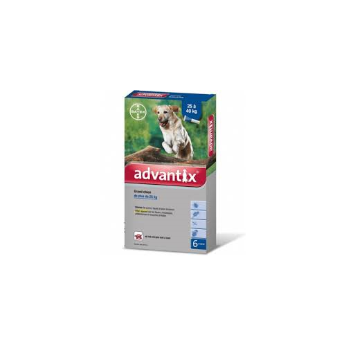 ADVANTIX 25 A 40 KG ( 6 PIPETAS)