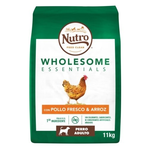NUTRO WHOLESOME ESSENTIALS ADULTO POLLO RAZAS MEDIANAS 11KG