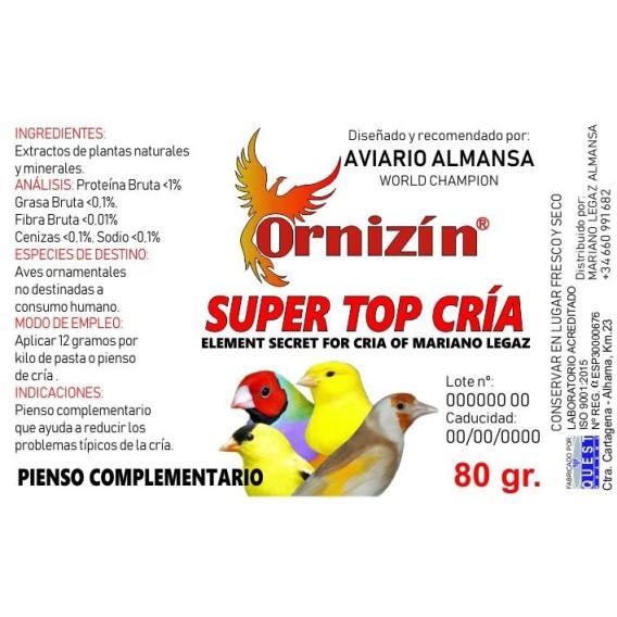 ORNIZIN SUPER TOP CRIA 200GR