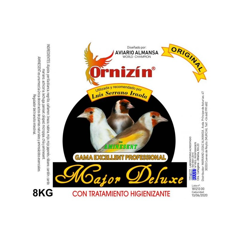 ORNIZIN MAJOR DELUXE CUBO 8KG