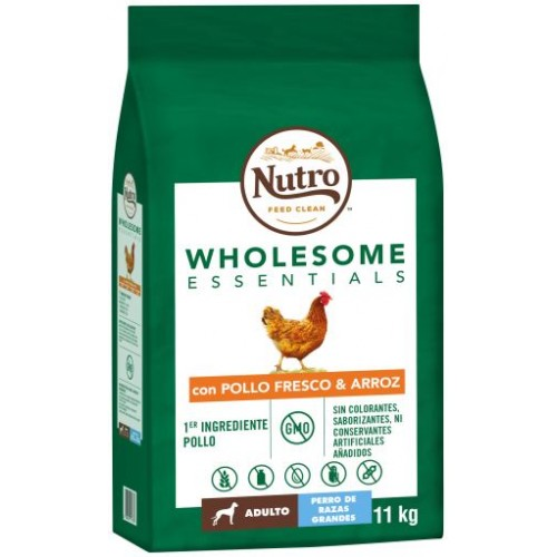Nutro Wholesome Essentials Adult Razas Grandes Pollo 11kg