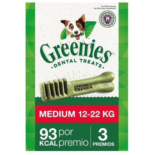 GREENIES MEDIUM PERROS 11 A 22 KG 12UNIDADES