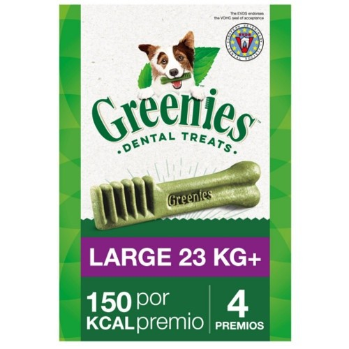 GREENIES LARGE 22-45 KG 4UNIDADES 170 GR 4 UNIDADES