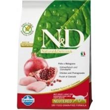 Farmina Natural and Delicious Grain Free Cat Neutered Pollo y Granada 10 kg