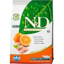 Farmina NATURAL & DELICIUS Grain Free Adult Cat Pescado y Naranja 10 KG