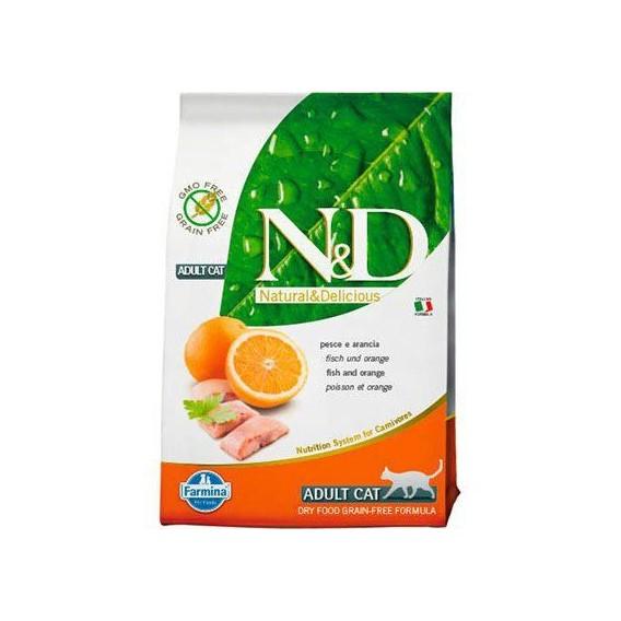 Farmina NATURAL & DELICIUS Grain Free Adult Cat Pescado y Naranja