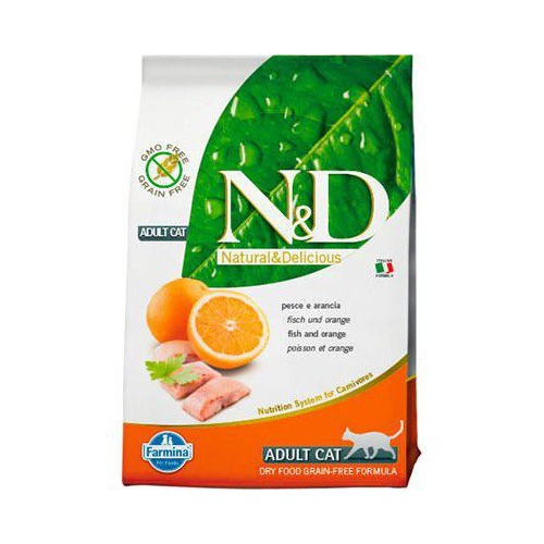 Farmina NATURAL & DELICIUS Grain Free Adult Cat Pescado y Naranja 10 KG