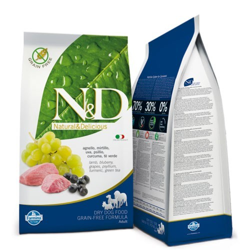 N&D Lamb & Blueberry Adult Dog 2,5 Kg