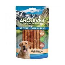 Arquivet Twist con pato enrollado - 13cm Natural Dog Snacks 1 kg