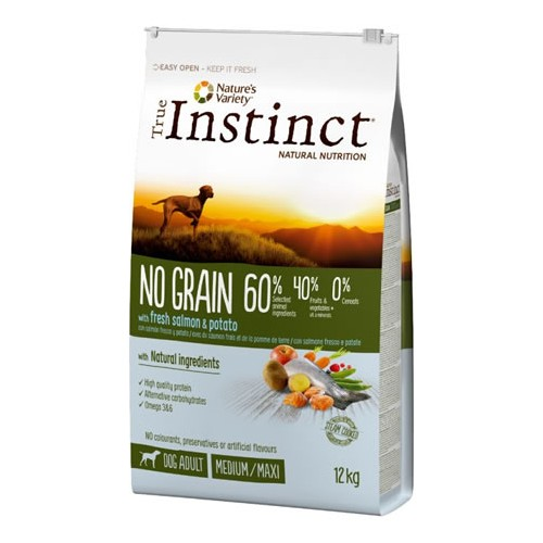 TRUE INSTINCT DOG ADULT SALMÓN GRAIN FREE 12kg