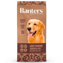 Banters Adult Medium Pollo para perros