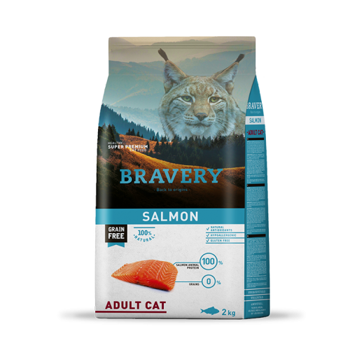 BRAVERY CAT GRAIN FREE ADULT SALMON