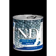 Farmina N&D Ocean Adult salmon & bacalao (Latas) 285 gr