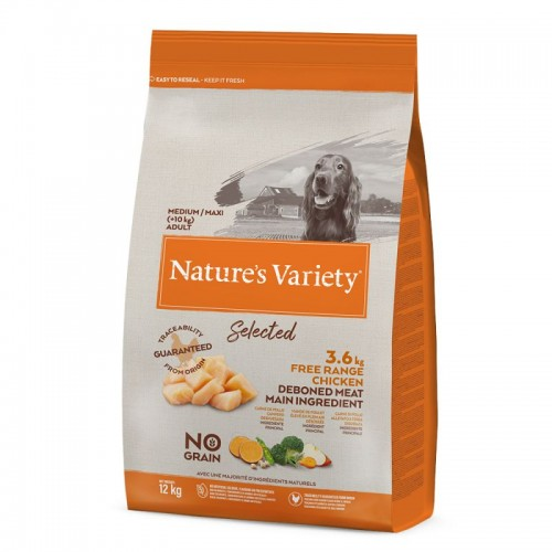 Nature's Variety Selected Medium Adult pollo de corral