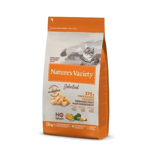 Pienso gatos Nature's Variety Selected Sterilized Pollo