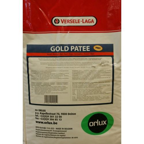 PASTA CRÍA ORLUX GOLD PATE 25kg PROFESIONAL