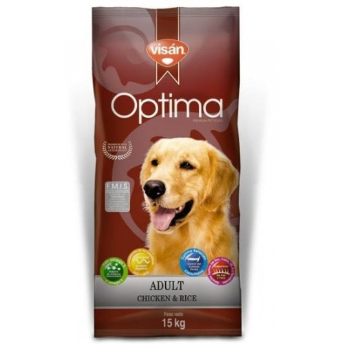 VISAN ÓPTIMA ADULT CHICKEN AND RICE. 15kg