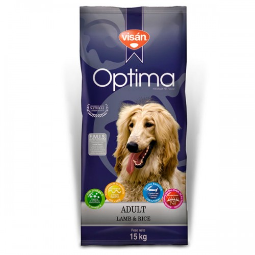 VISAN OPTIMA ADULT LAMB AND RICE 15kg