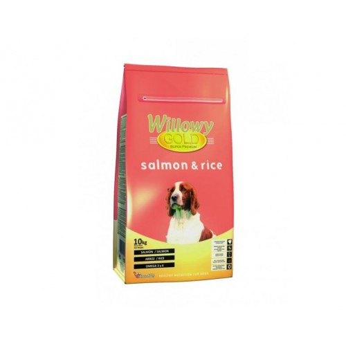Willowy gold salmon y arroz 10 kg