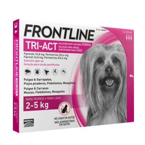 FRONLINE TRI ACT 2- 5 KG 6 PIPETAS