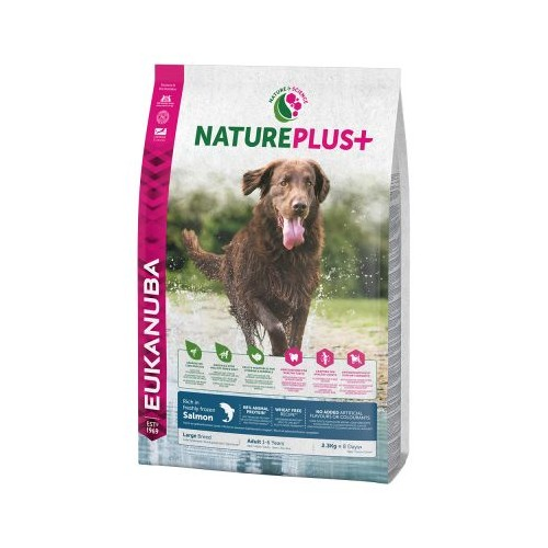 EUKNAUBA NATURE PLUS+ ADULT LARGE BREED CON SALMON